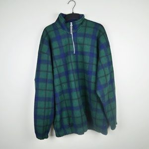 BUGLE BOY| plaid pullover snow fleece sz Medium